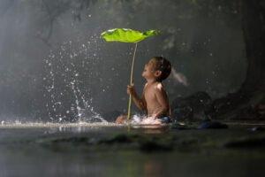 Stress Management, Enjoyment, water, child
